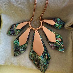 NEW Kendra Scott Rose Gold Abalone Mari Necklace